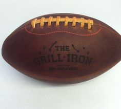 Engraved Leather Football   Handmade, Made in America