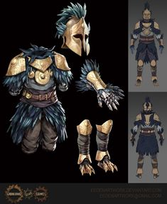 Path of Exile Aspect of the Avian Armour Character Concept, Character Art, Character Design, Fantasy Armor, Fantasy Weapons, Dnd Characters, Fantasy Characters, Armor Concept, Concept Art
