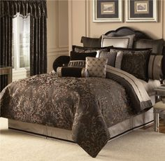 Grey Comforter Perrrrfect For The Master Bedroom