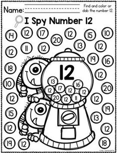 Free beginning of the year emergency sub plans for kindergarten with a monsters theme. Get a story, math, reading group and writing activity list. Numbers Preschool, Math Numbers, Learning Numbers, Preschool Worksheets, Preschool Learning, Kindergarten Classroom, Teaching Math, Preschool Activities, Number Worksheets