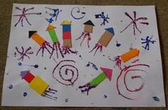 James Arts and Crafts Blog: Children's Bonfire Night Collage