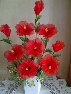 Nylon Flowers, Wire Flowers, Organza Flowers, Tissue Paper Flowers, Cloth Flowers, Kanzashi Flowers, Plastic Flowers, Faux Flowers, Fabric Flowers