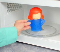 Angry Mama Microwave Cleaner - Uses Steam To Clean The Crud Off