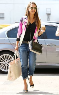 Jessica Alba is wearing Carrera by Jimmy Choo sunglasses – August 2013