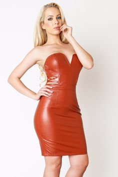 Better In Leather Dress Rust