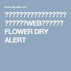花と音楽の変化で「乾き」をお知らせする新感覚なWEBコンテンツ、FLOWER DRY ALERT