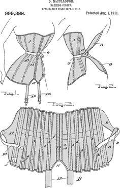 Corset patent (1911) D. McCullough Bathing-Corsets