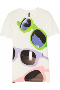 Versus: Sunglasses Print Stretch-Jersey T-Shirt