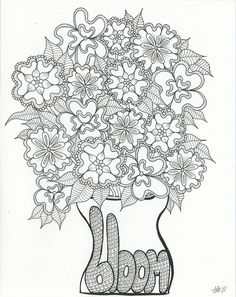 by beauty that moves, via Flickr Bloom, Art Coloring Page Of course we'd have to Pin this! #toddler #color