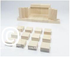 Lebensform mit den Holzbausteinen der Spielgabe 6 nach Froebel -> Theater