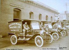 Model T Ford     McLean Grocery Brass Era Delivery Fleet Walla Walla Washington