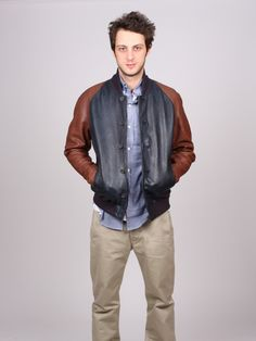 Levis Made & Crafted Leather Varsity Jacket