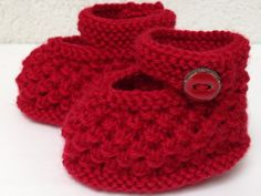 Handknitted forgetmenot style doll shoes