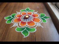 Simple , Easy and Quick freehand Rangoli designs with colours/ Rangoli Designs by Shital Daga Easy Rangoli Designs Diwali, Simple Rangoli Designs Images, Rangoli Designs Latest, Rangoli Designs Flower, Free Hand Rangoli Design, Rangoli Border Designs, Small Rangoli Design, Rangoli Patterns, Rangoli Ideas