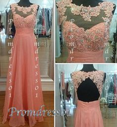 2015 unique elegant pink lace high neck open back modest long prom dress for teens, plus size dress, ball gown, bridesmaid dress #promdress #homecoming