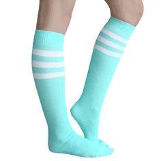 Made in USA Chrissy's Socks Thigh High Socks, Thigh Highs, Neon Green, Mint Green, Vanellope, Tube Socks, Kawaii Clothes, Kelly Green, Sock Shoes