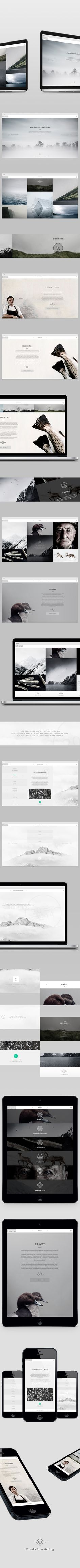Noma Atmosphere by Jacob Mattesen Hansen, via Behance- fresh, clean cut and easy to read. Nice
