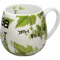 Konitz 14-Ounce Tea Collage Snuggle Mugs, Assorted, Set of 4