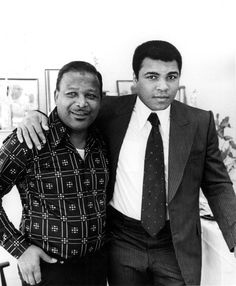 Sugar Ray Robinson and Muhammad Ali - 1990