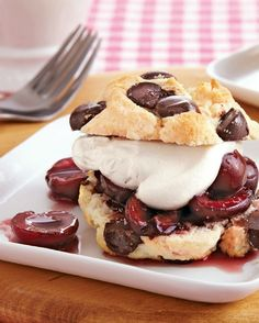 Chocolate Cherry Shortcakes Recipes — Dishmaps