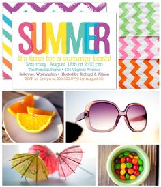 INVITATION IDEAS --- Get your flip flops ready, it's time for a summer party!