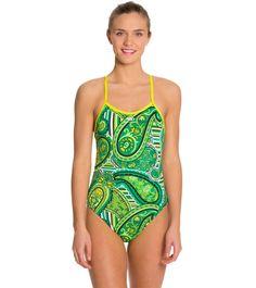 Blue Seventy Women's Paisley Lotus Open Back Swimsuit at SwimOutlet.com - The Web's most popular swim shop