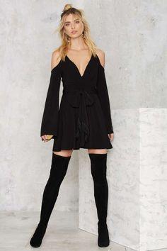 Nasty Gal Going for Cold Shoulder Dress - Raise the Barre | Do East | Best Sellers | Fit-n-Flare | LBD | Dresses