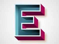 Dribbble - E by Chris Rushing — Designspiration