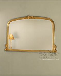 Chevening Overmantle Mirror With Ornate Gold Frame Beveled Glass, Gold Frame, Mantle Piece, Acanthus Leaf, Overmantle Mirror, Ornate, Gold Ornate Mirror, Elegant Interiors, Ornate Mirror
