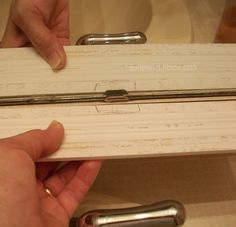 Frame an Outdated Mirror - Great tutorial! Step-by-step guide on covering up the rough edges of an industrial grade mirror. Bathroom Mirror Makeover, Bathroom Mirrors Diy, Bathroom Remodel Cost, Old Mirrors, Old Bathrooms, Diy Mirror, Bathroom Ideas, Master Bathrooms, Mirror Ideas