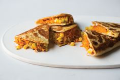Sweet Potato Quesadillas: This fork-and-knife quesadilla is great topped with salsa and guacamole. Sweet Potato Quesadillas