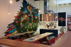Large wall mural! The design of this new ramen bar is adding to San Francisco's street culture
