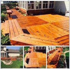 Cedar deck restoration with natural cedar from Ready Seal.