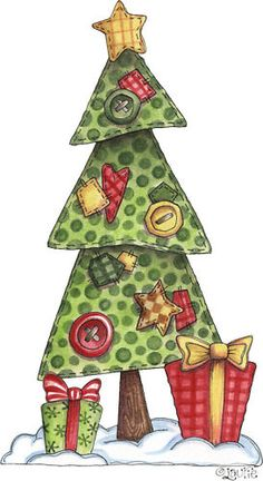 Xmas tree - this would be great as an applique block too :) ❥Teresa Restegui http://www.pinterest.com/teretegui/❥