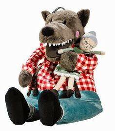LUFSIG Soft toy - IKEA - I got this for Angus. Best toy ever for kids who have bad dreams about wolves but are obsessed with wolf fairy tales! Re-enacting granny & the three little pigs deaths over and over and over.