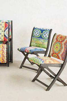 Suzani Terai Folding Chairs. Perfect for summer! #PAMACelebrateSummer #contest #anthropologie