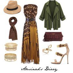 http://aminahshijabdiary.wordpress.com/ #hijab #muslimah #style #fashion #ootd #look #outfit #leo #olive #safari #brown #dress