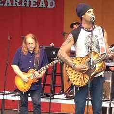 Michael Franti in my opinion, put on the best show of the Festival
