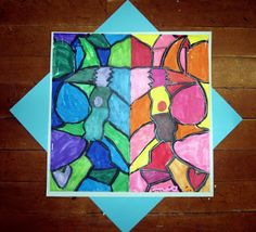 Symmetrical Warm and Cool Compositions 3rd grade - ArtMuse67