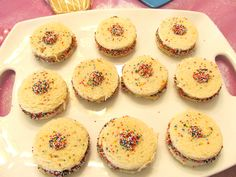 Peanut Butter & Jelly Sandwiches with Sprinkles - so cute for a birthday school lunch!