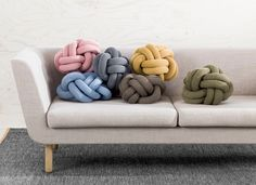 DIY knot pillows. People have been pinning these like crazy and I have a feeling it is because they are so unique.