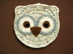 Crochet Owl Bird Pot Holder Hot Pad Potholder Housewarming gift Kitchen decor on Etsy, $7.00