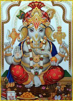 Maha Ganapathi Homam is dedicated to Lord Ganapathi to invoke his blessings in the fire ritual. Ganapathi Homam will give success, health and wealth in life. Shiva Art, Ganesha Art, Shiva Shakti, Krishna Art, Hindu Art, Ganesh Tattoo, Durga Maa, Jai Ganesh, Shree Ganesh