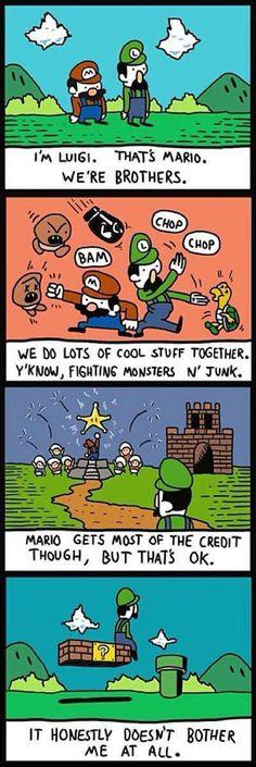 Dude, luigi I think you're way better than mario! I think Luigi is better too New Super Mario Bros, Super Smash Bros, Mario Comics, Nintendo Game, Weegee, Online Comics, Pokemon, Pikachu, Cool Stuff