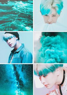 Wonho - I'm not sure why I love that blue and white hair on him so much but I do..