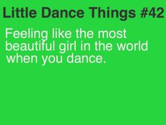 Little Dance Things-then going back to normal life and just feeling normal again...*sigh*