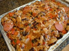 Cajun Chicken and Sausage Casserole with Dirty Brown Rice   heartland Renaissance