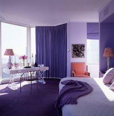Purple Bedroom Theme - Purple Teenage girls bedroom | IDP - Interior Design Pic I love this so so much <3
