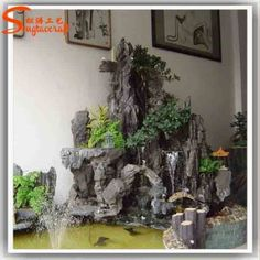 Fabulous Waterfall Home Decor 67 With Additional Interior Design For Home Remodeling with Waterfall Home Decor Indoor Waterfall, Waterfall Fountain, Garden Waterfall, Tabletop Water Fountain, Indoor Fountain, Waterfall Decoration, Small Water Gardens, Pond Design, Aquarium Design