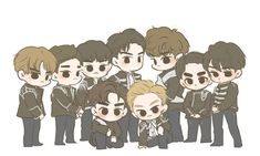 Find images and videos about exo, baekhyun and chanyeol on We Heart It - the app to get lost in what you love. Chibi, Exo Art, Exo Fan Art, Exo Chibi Fanart, Anime, Cartoon Wallpaper, Cute Drawings, Exo Anime, Fan Art